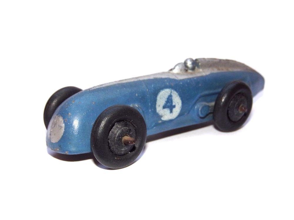 Dinky Toys No.23A Racing Car Blue Body Silver Stripe Race Car #4 ...