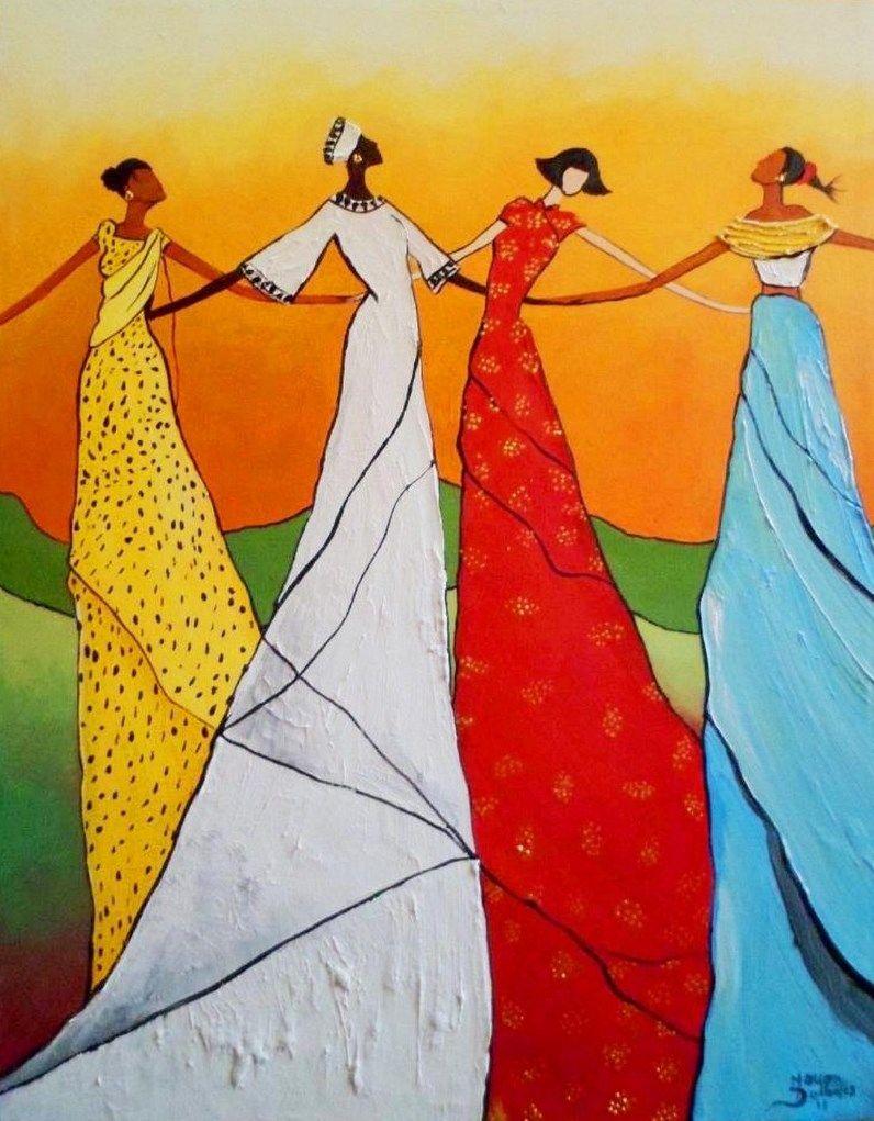 Cuadro pintado con acrílico. Muy colorido, alegre y moderno ...
