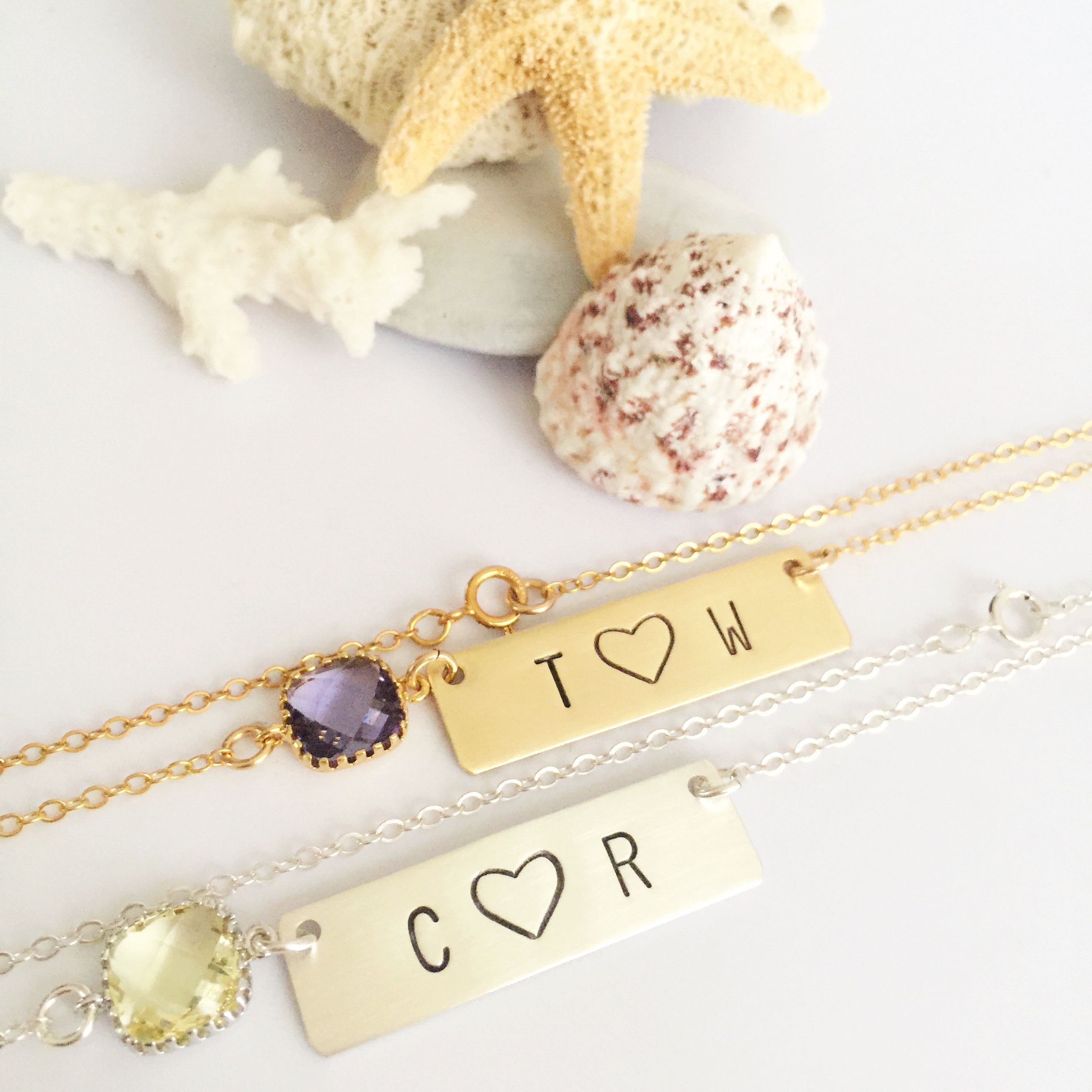 Pin by All Washed Up Jewelry on Necklaces | Stamped bar ...