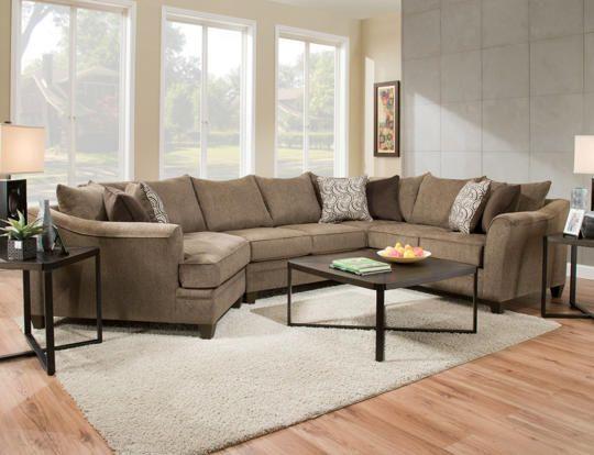 Beau Albany Truffle 3PC Sectional   Art Van Furniture