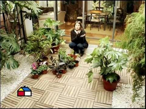 Un patio interior es un buen espacio para tener una linda - Decorar un patio interior ...