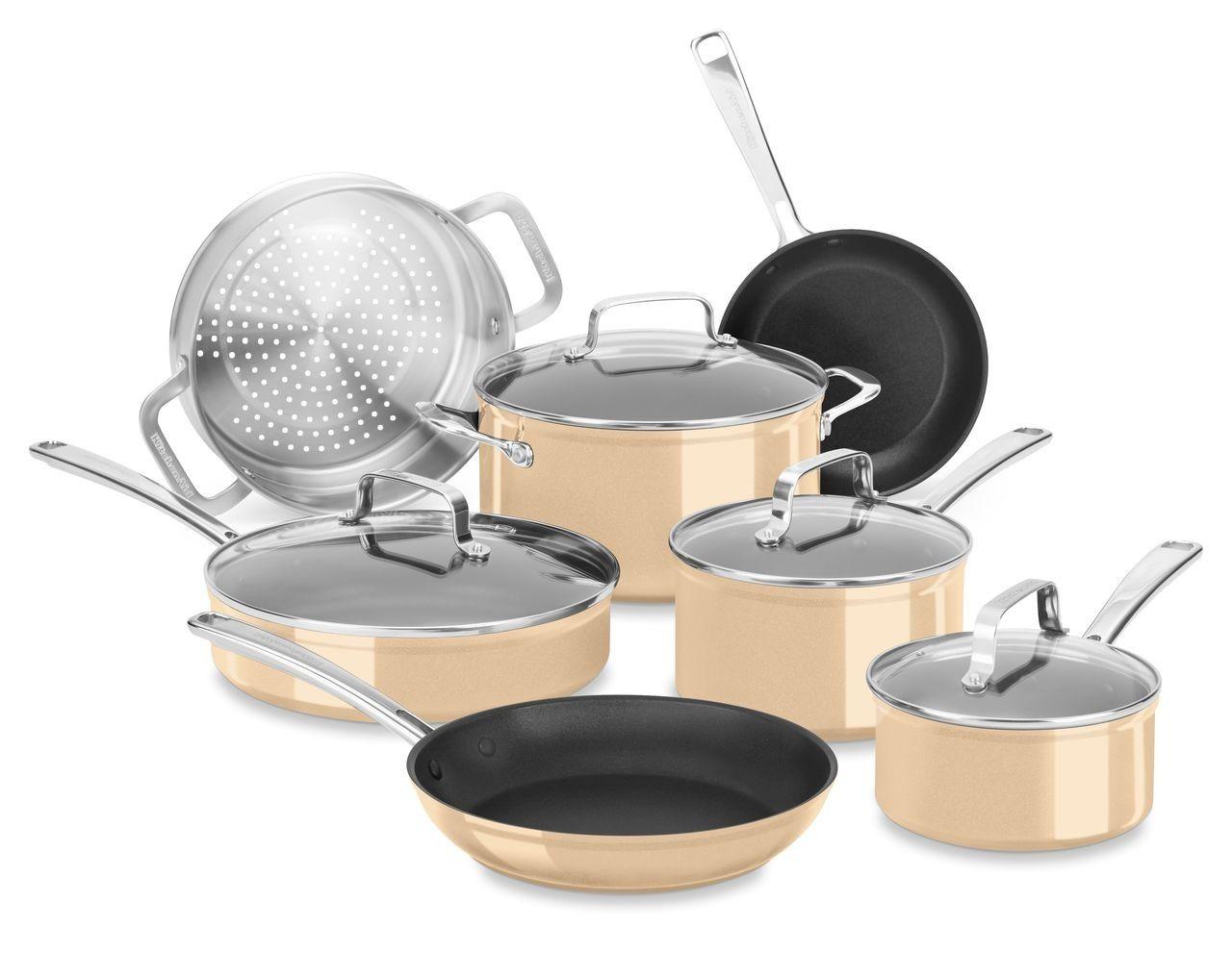 kitchenaid copper pots and pans set