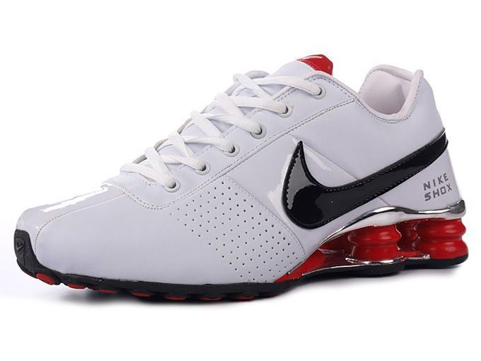 0f3a8d30c56 Mens Nike Shox Deliver White Black Red- 76.66