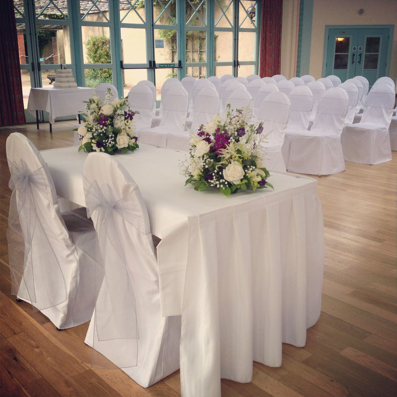 The Sun Pavillion, Harrogate, set for a civil ceremony