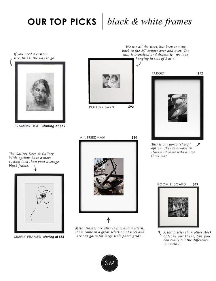 Our Top Picks: Black & White Frames | Studio mcgee, Studio and Modern