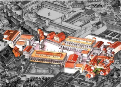 """El concepto urbano de Foro fue repetido en otras regiones a través del imperio y se convirtió en un símbolo de la """"romanización"""" de las ciudades conquistadas o fundadas. Los foros romanos se caracterizaron por la imponente construcción de templos y edificios"""