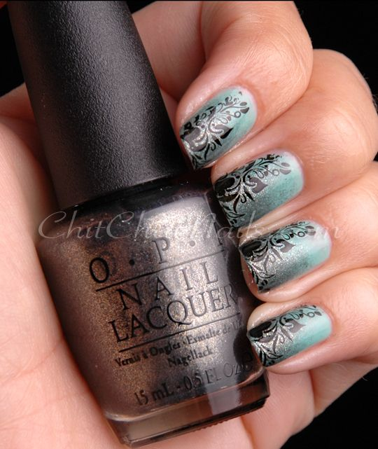 Essie Turquoise & Caicos (base), OPI Number One Nemesis (sponge ...