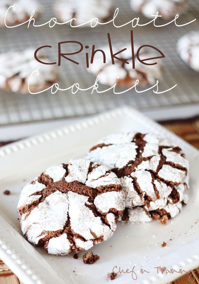 Chocolate Crinkle Cookies!
