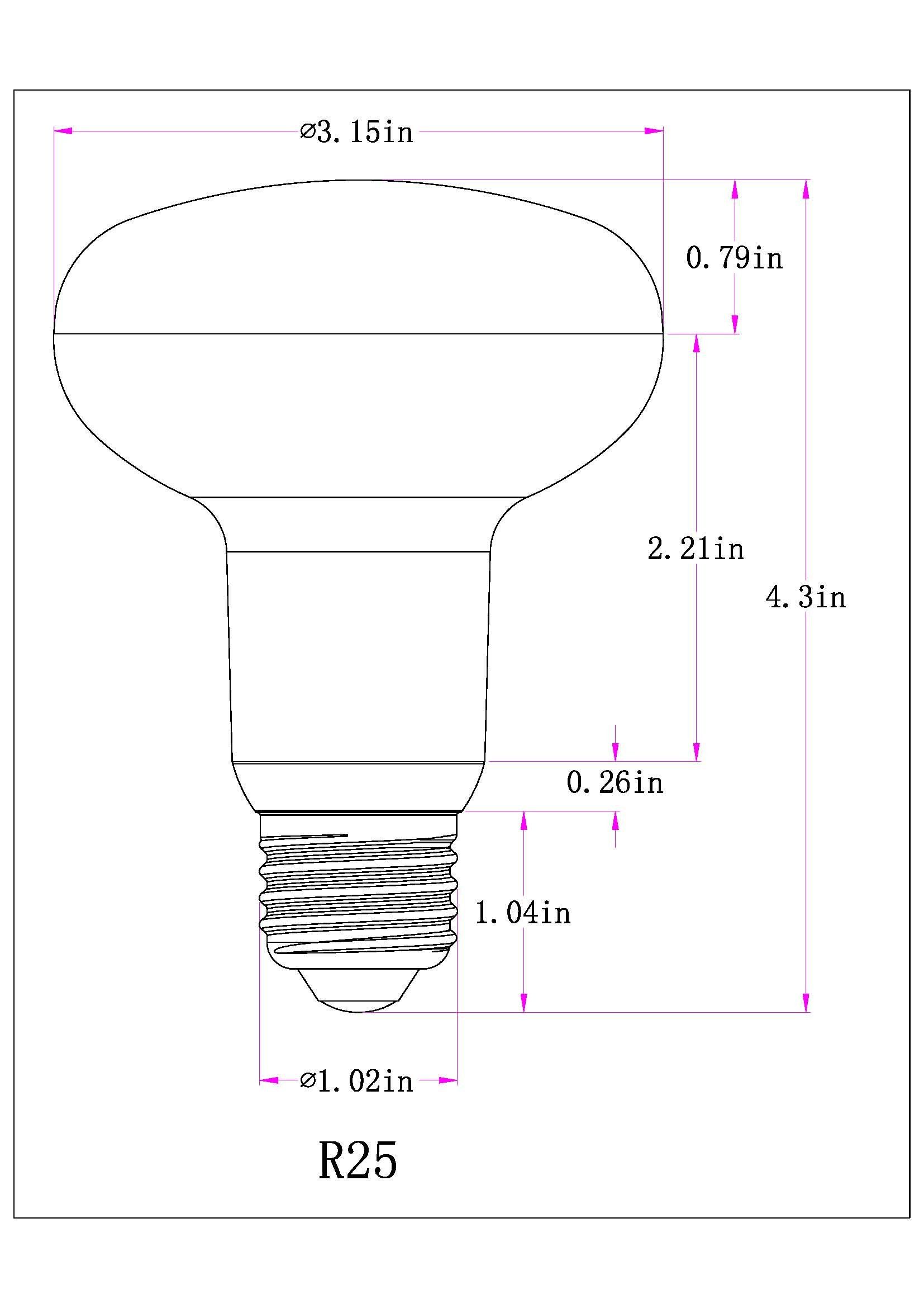 1 pack 12w r25 dimmable led flood light bulbs e26 medium base 100w incandescent bulbs equivalent high lumens 1200lmwarm white 2700k led recessed lighting  [ 1654 x 2339 Pixel ]