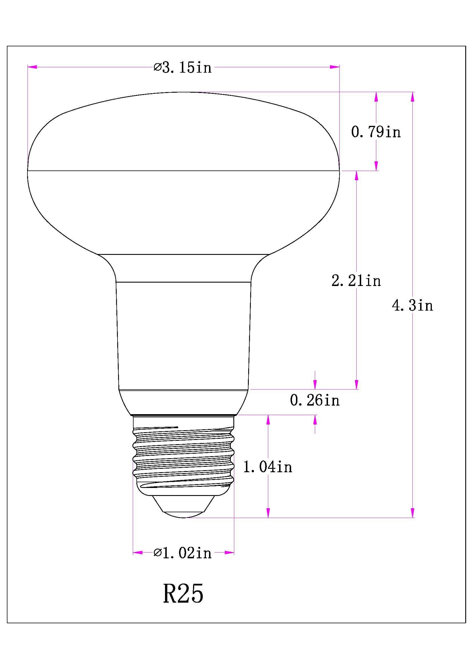 medium resolution of 1 pack 12w r25 dimmable led flood light bulbs e26 medium base 100w incandescent bulbs equivalent high lumens 1200lmwarm white 2700k led recessed lighting
