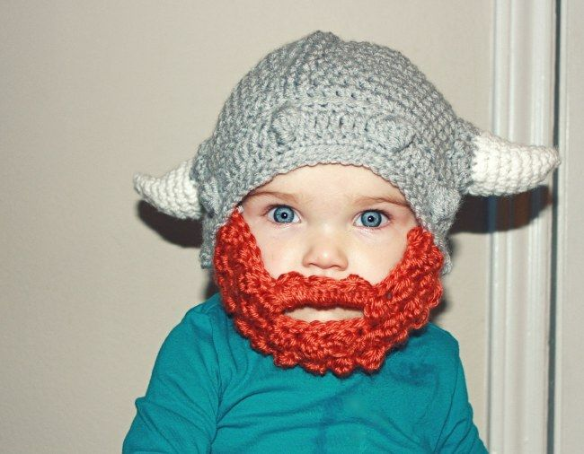 Crochet Viking Hat With Beard Free Pattern | Pinterest