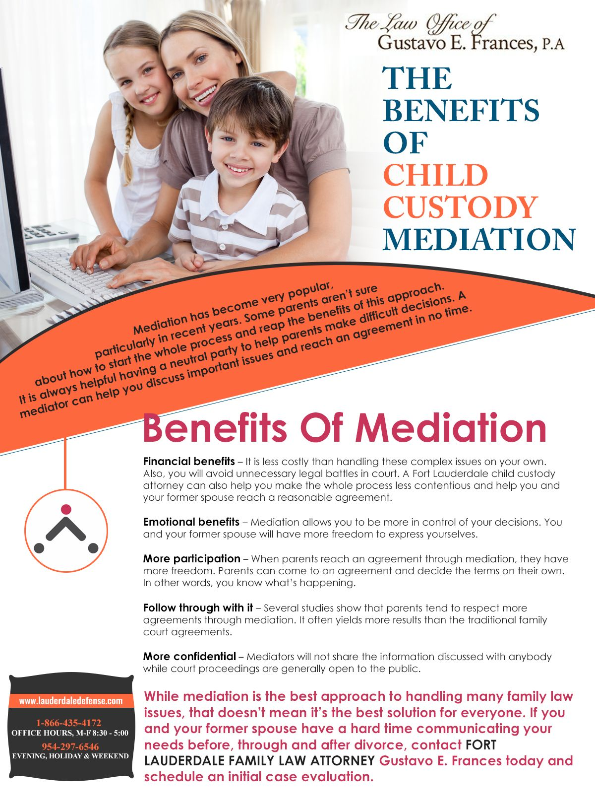 3a271367ef0 While mediation is the best approach to handling many family law issues