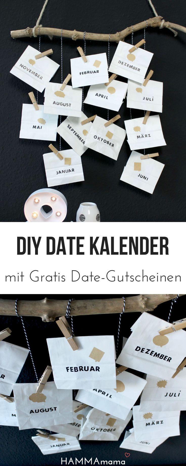 DIY (zum Valentinstag, Vatertag oder Geburtstag) mit Freebie! ° Date-Kalender selber machen ° Ein persönliches Geschenk für den Mann #persönlichegeschenke