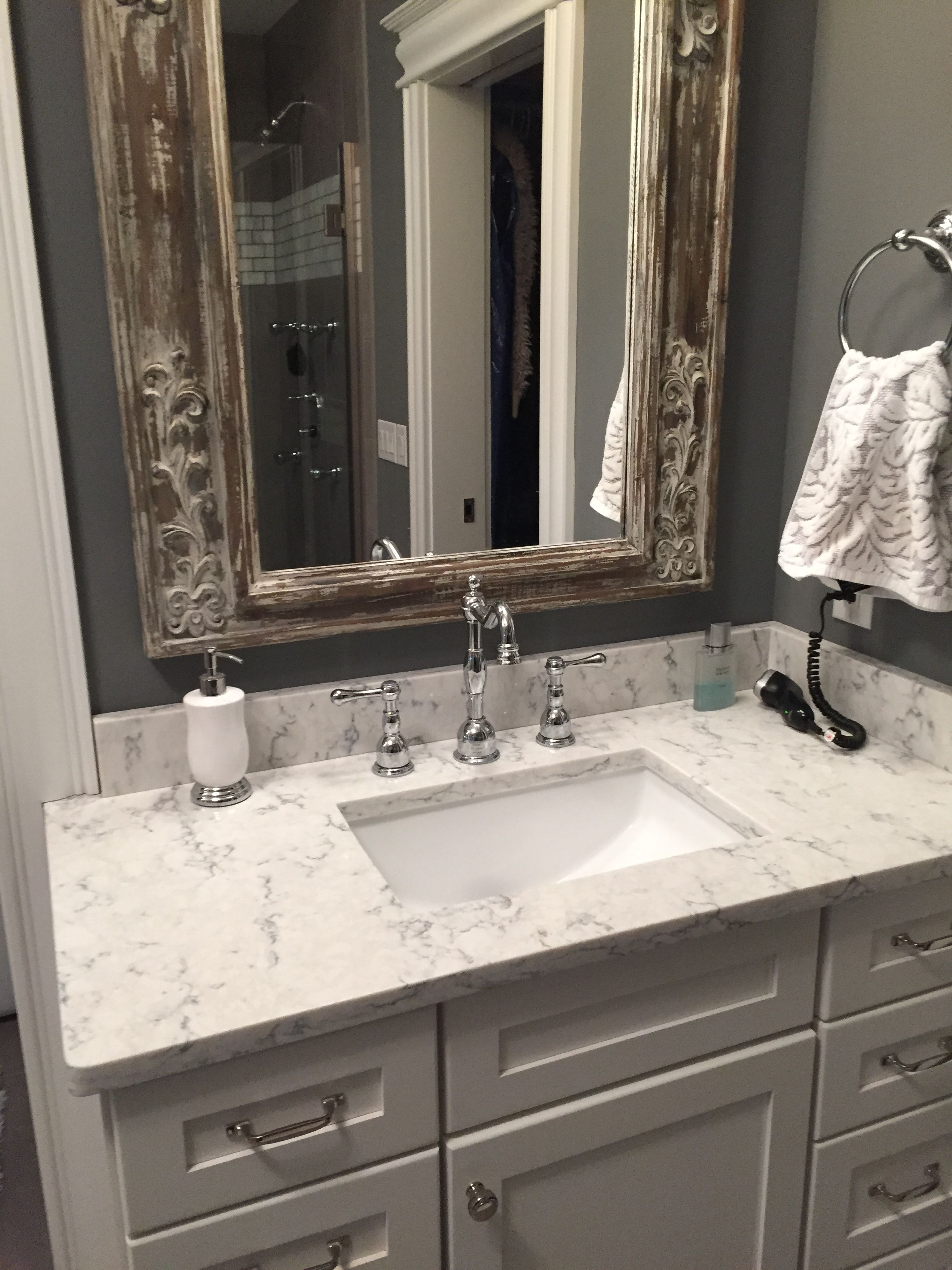 His And Hers Vanities With Rectangular Undermount Sinks