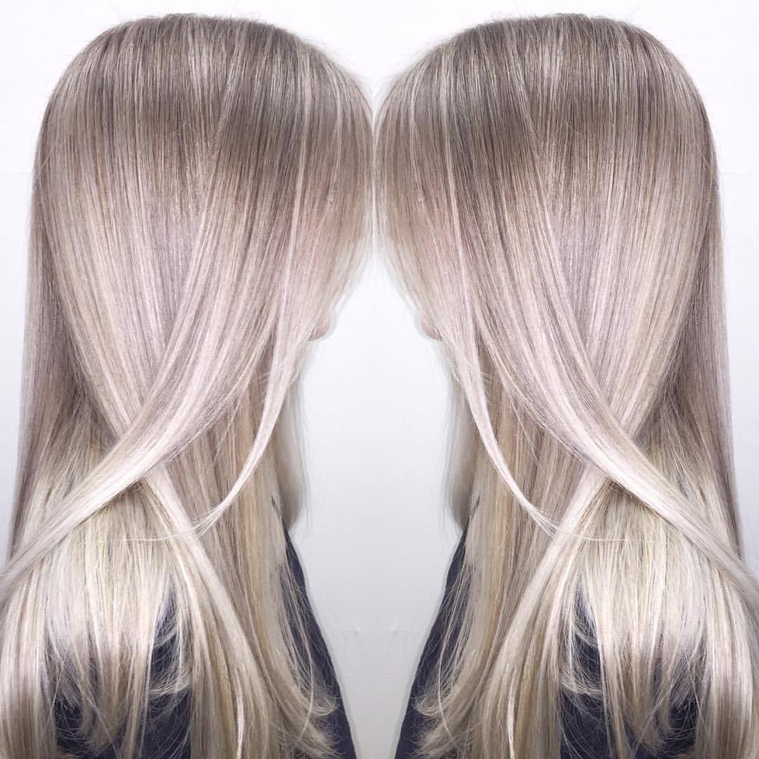 Ash Blonde Achieved With Babylights In Foil Balayage And