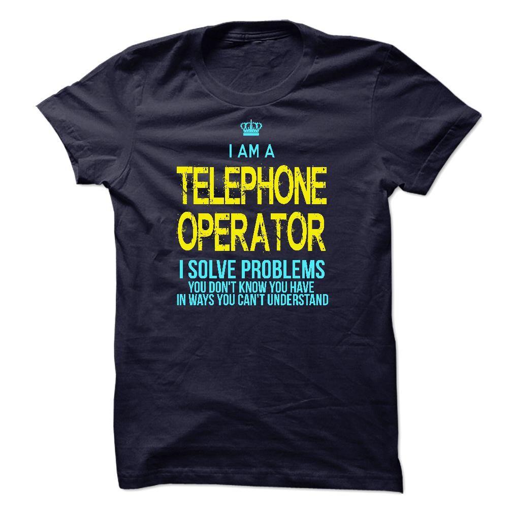 I'm A TELEPHONE OPERATOR T-Shirts, Hoodies. GET IT ==► https://www.sunfrog.com/LifeStyle/Im-AAn-TELEPHONE-OPERATOR-25141108-Guys.html?id=41382