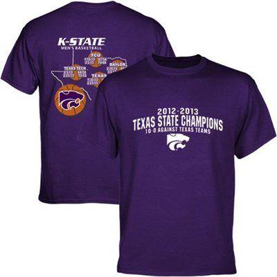 bba003d66604 Kansas State Wildcats NCAA Men's Basketball Texas State Basketball Champions  T-Shirt - Purple