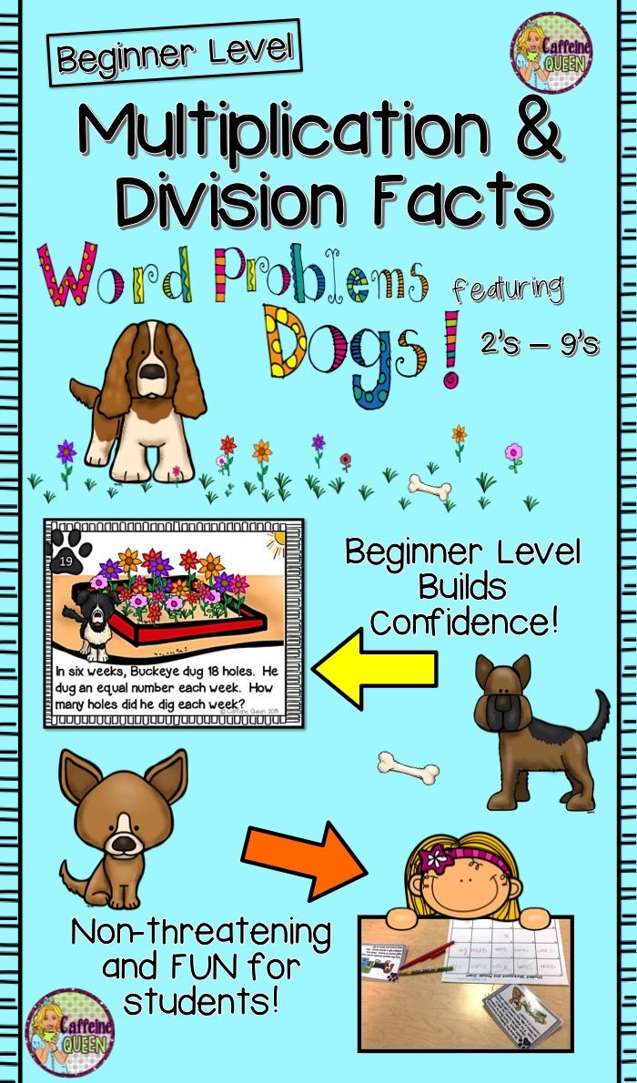 Word Problems - Multiplication and Division Facts   Multiplication ...