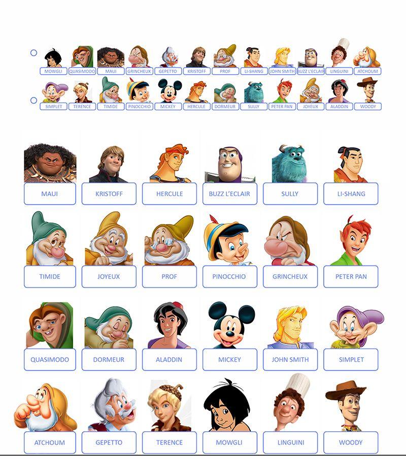 Guess who Disney boys | Jeux disney, Jeux de société ...