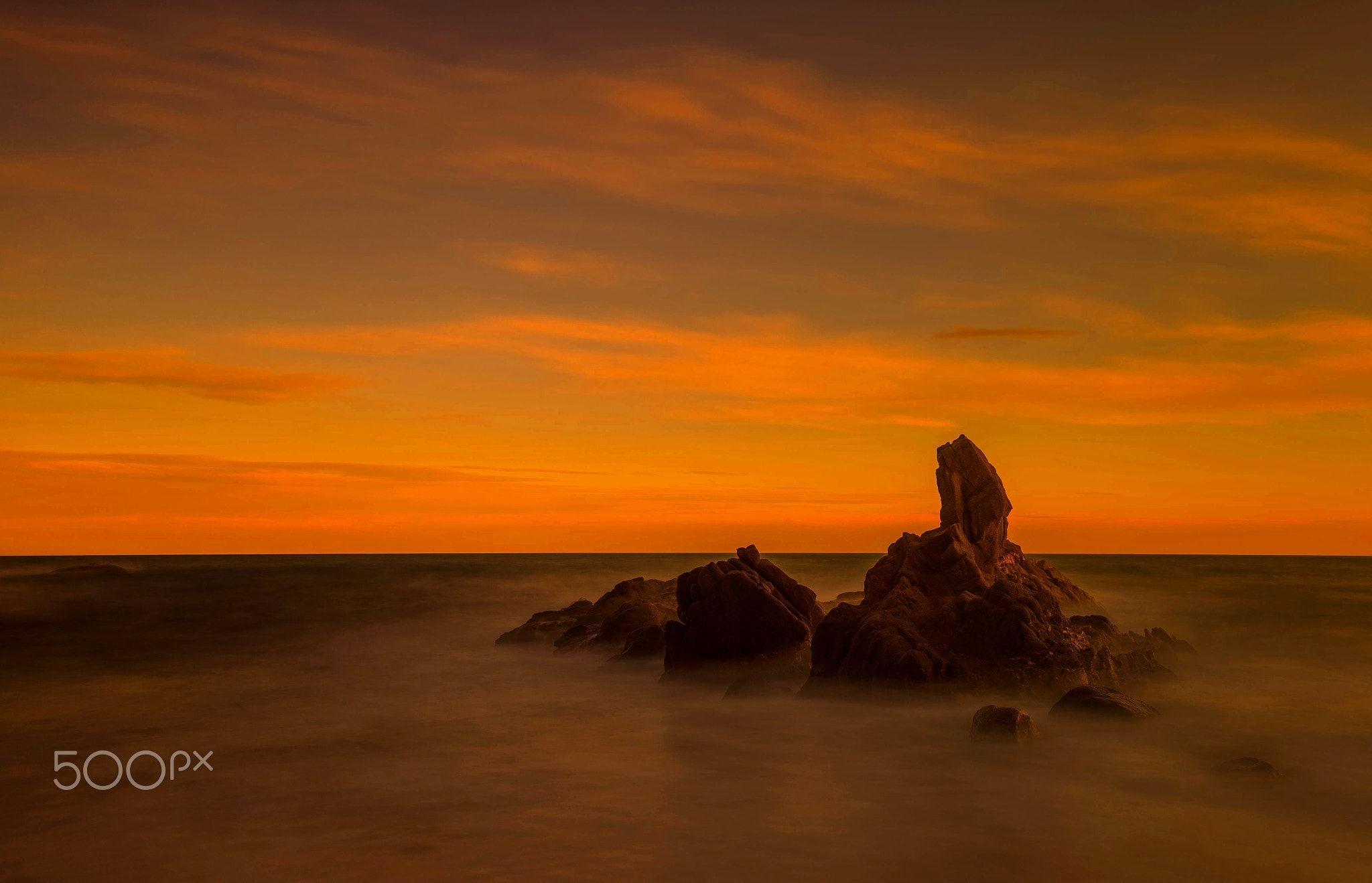 Sunset in Cala Paller.