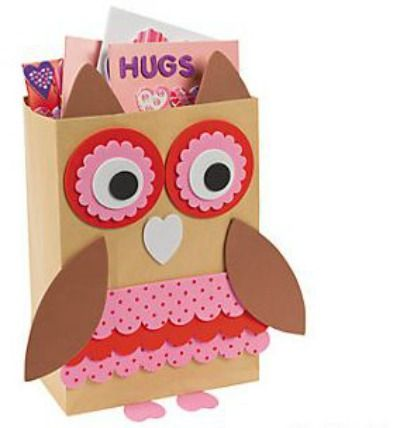 PINK CUTE OWL Party Food Boxes ~ Trick or Treat Sweet Meal Box Bag