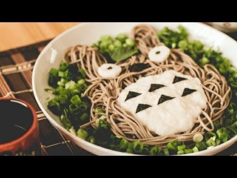 How to Make Totoro Soba (トトロとろろ蕎麦の作り方) -- you wish you were my future one-day offspring, y'all.