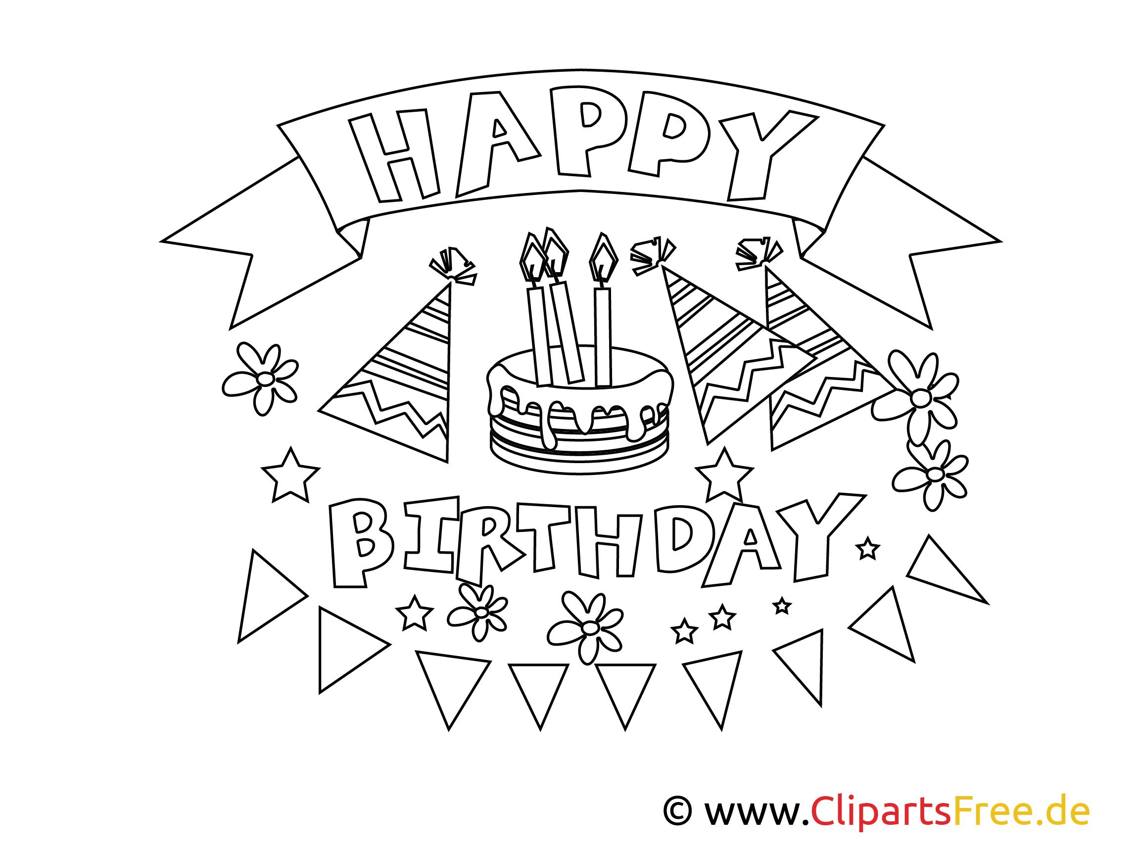 Neu Ausmalbilder Happy Birthday #Malvorlagen #MalvorlagenfürKinder