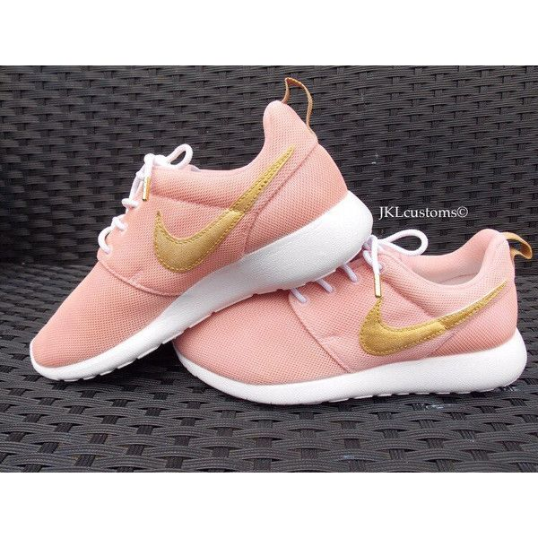 2ce6a392b01e Rose Gold Nike Roshe With Gold Aglets Rose Gold Roshe Pink Nike Roshe.