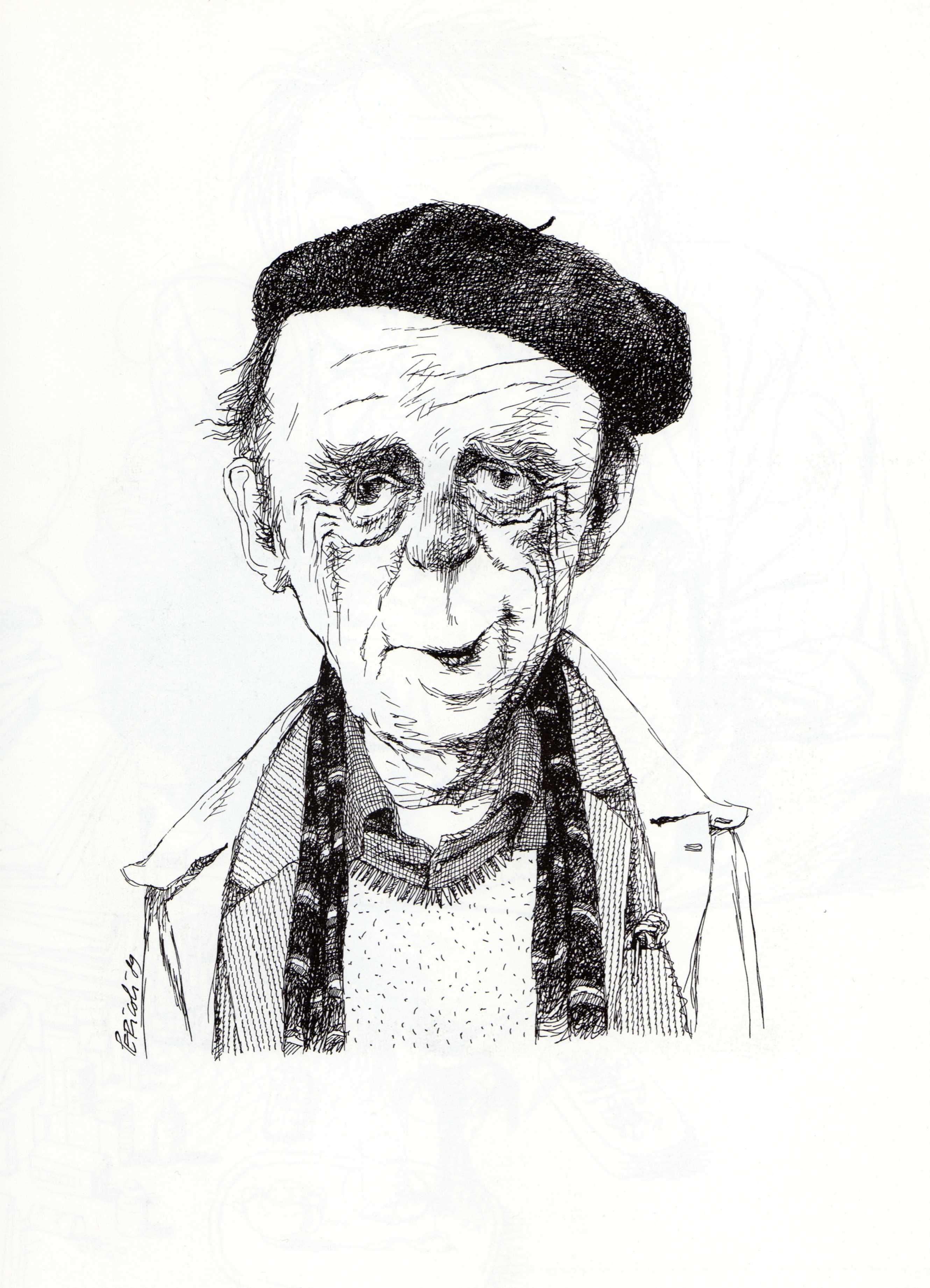 Böll Karikatuur Van De Duitse Schrijver En