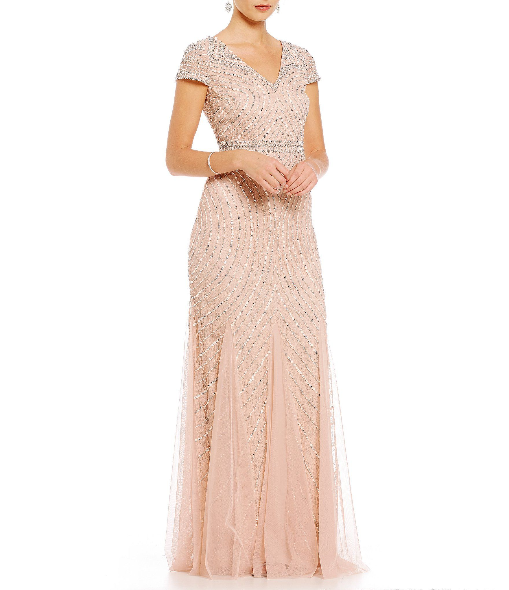 4616d1cf96 Shop for Adrianna Papell Sequin and Beaded Lace V-Neck Gown at  Dillards.com. Visit Dillards.com to find clothing, accessories, shoes,  cosmetics & more.
