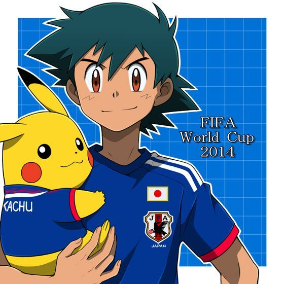 Ash and Pika for the World Cup 2014