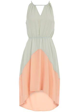 Mint & peach dress