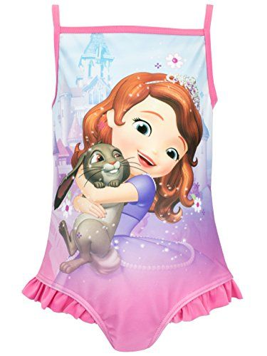 Disney Princess Sofia The First One Piece Swimsuit Toddler Girl Size 5T