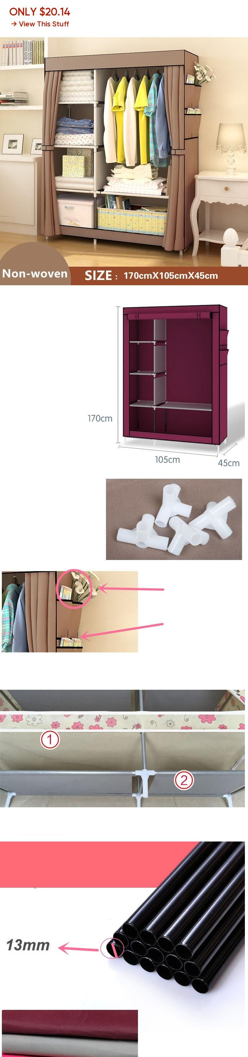 Non Woven Wardrobe Closet Large And Medium Sized Cabinets Simple Folding Reinforcement Receive Stowed Clothes Wardrobe Closet Cheap Wardrobe Closet Large Wardrobe Closet