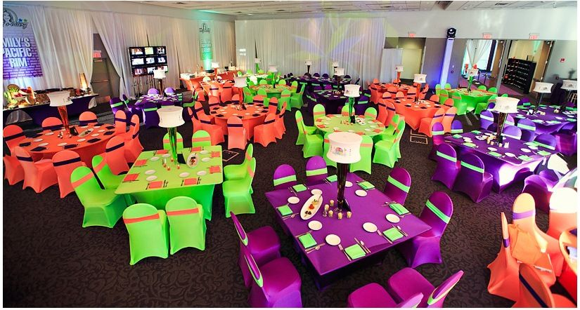 Sweet 16 Table Decoration Ideas find this pin and more on lillys sweet 15 idea board choose your colors for this stunning sweet 16 centerpiece Neon Sweet 16