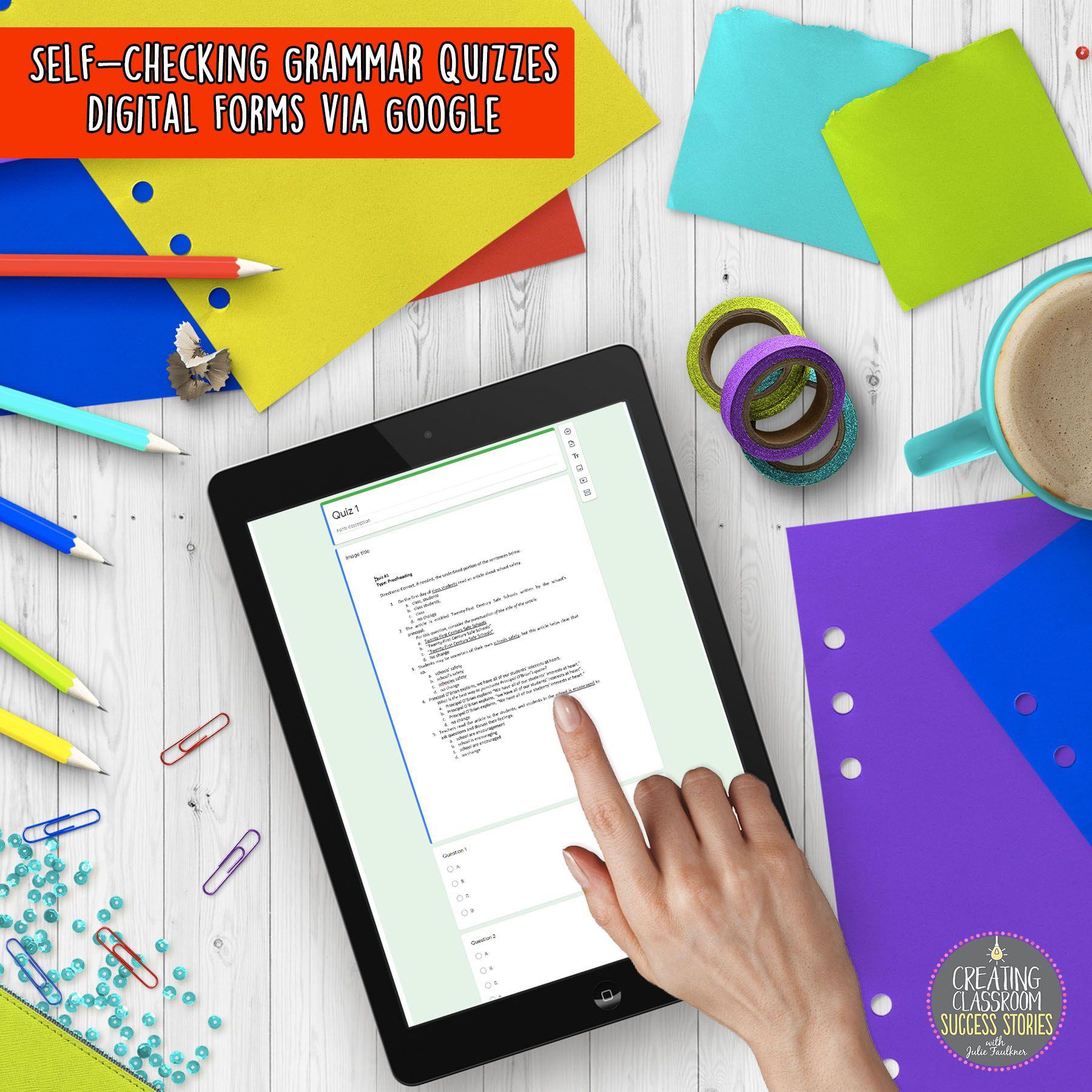 Grammar Quizzes Multiple Choice Printable Amp Digital
