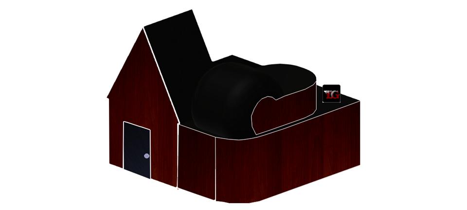 Dark Wood Custom 3D House.