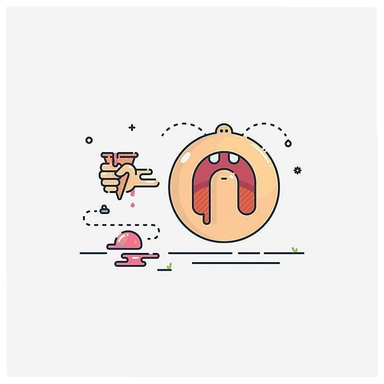 Spilt ice cream illustration By @phantompointscreative  Follow us we're new!  #illustration #linework #art #artist #artwork #artoftheday #vector #vectorart #flatdesign #materialdesign #photooftheday #design #designer #graphicdesign #creative #bydesigners #icon #iconaday #design #pipe #visforvector #graphicdesign #web #webdesign #thedesigntip #iconography #bestvector #graphicroozane #thedesigntip #dribbblers #logoplace by bydesigners