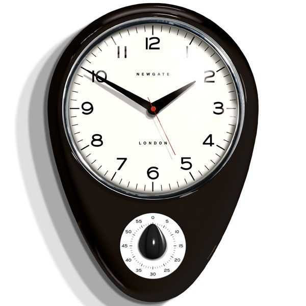 Newgate Discovery Kitchen Timer Clock   Cave Black