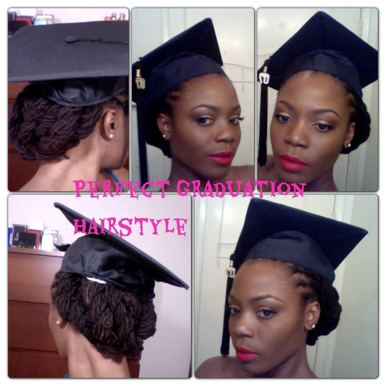 Perfect Graduation Lock Hairstyle Graduation Hairstyles Graduation Hairstyles With Cap Braids For Black Hair