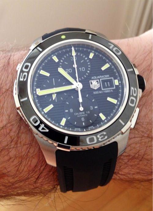 2013 TAG Heuer Aquaracer 500m Ceramic Calibre 16 Chronograph  c915b385ea