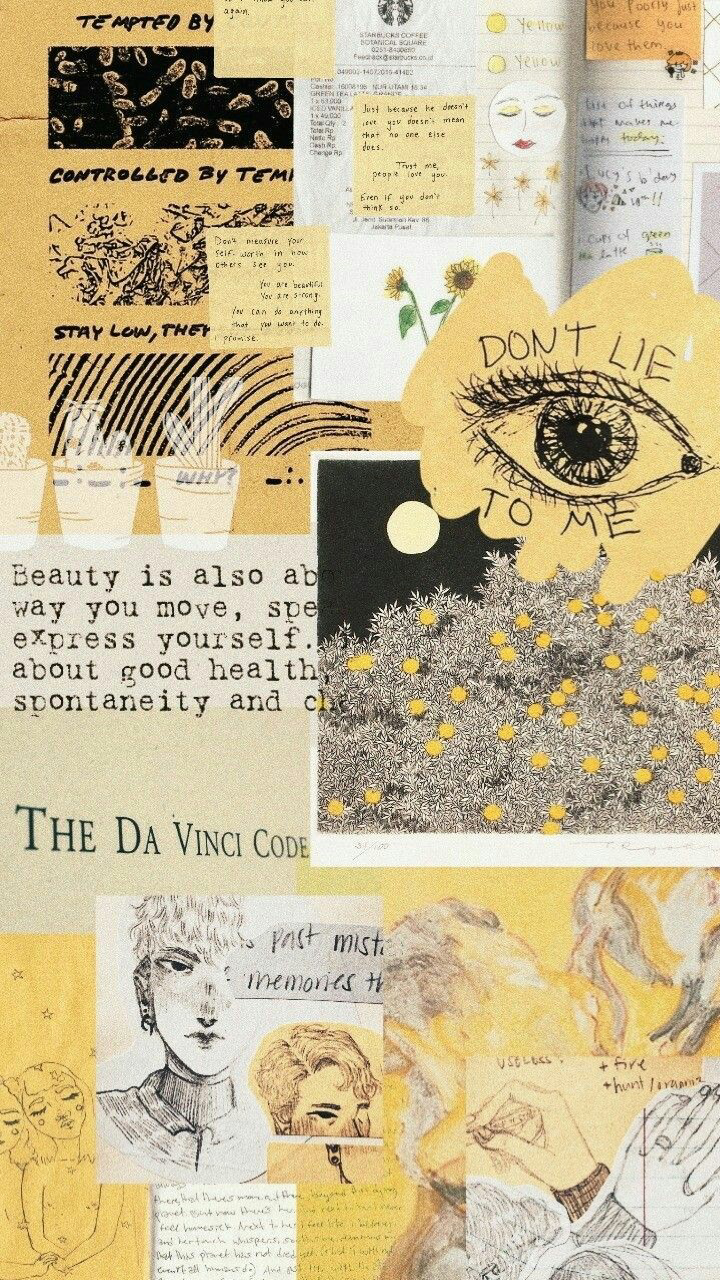 Mixed Aesthetic Quotes/Wallpapers ???? #wallcollage