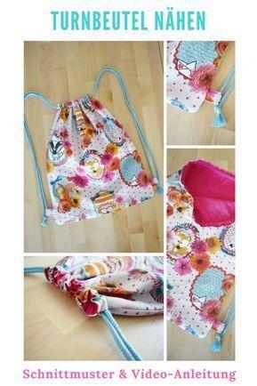 Sewing gym bag with sewing pattern DIY FASHION