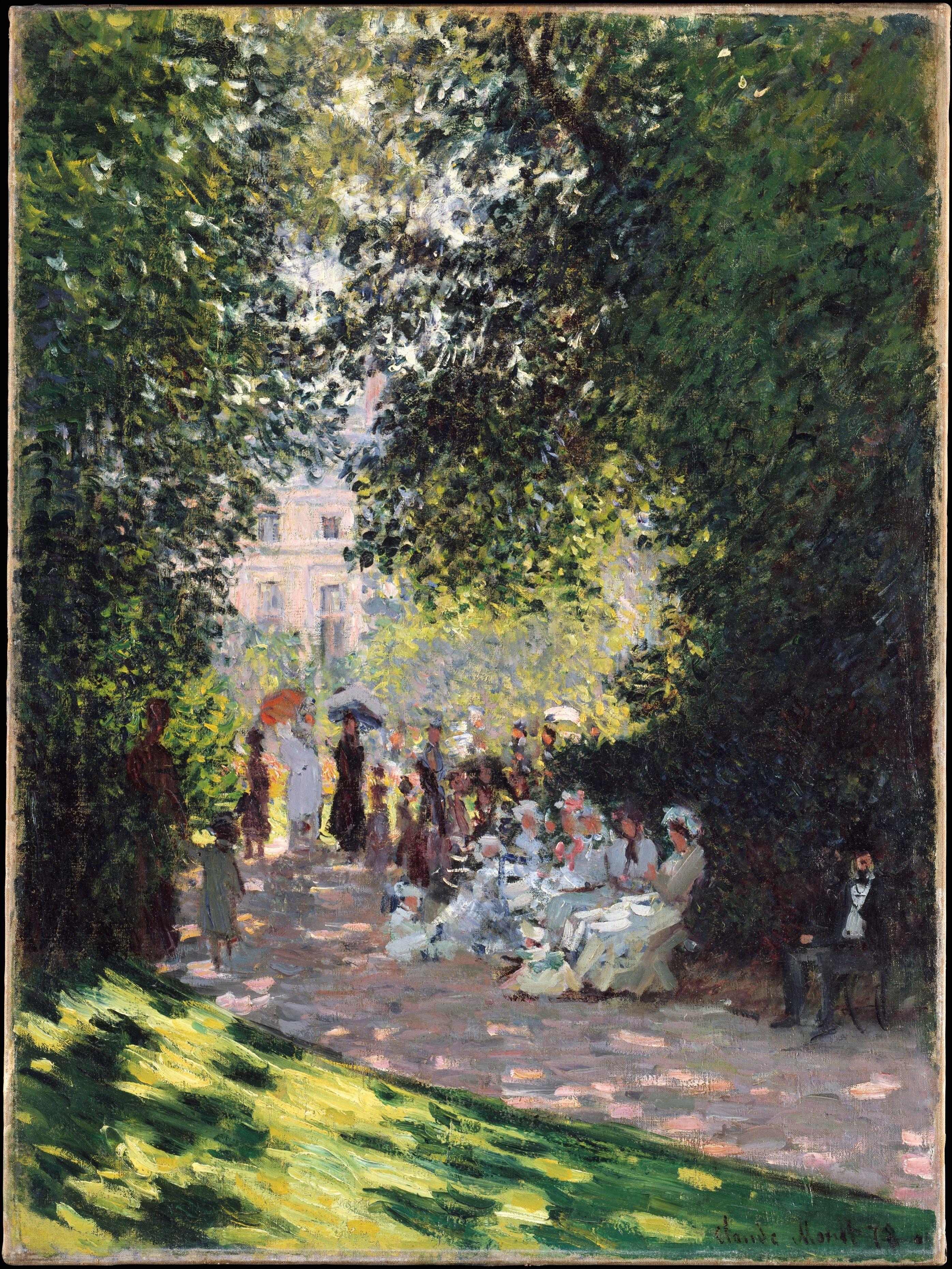 The Parc Monceau 1878 Claude Monet Oil On Canvas 28 X 21 In