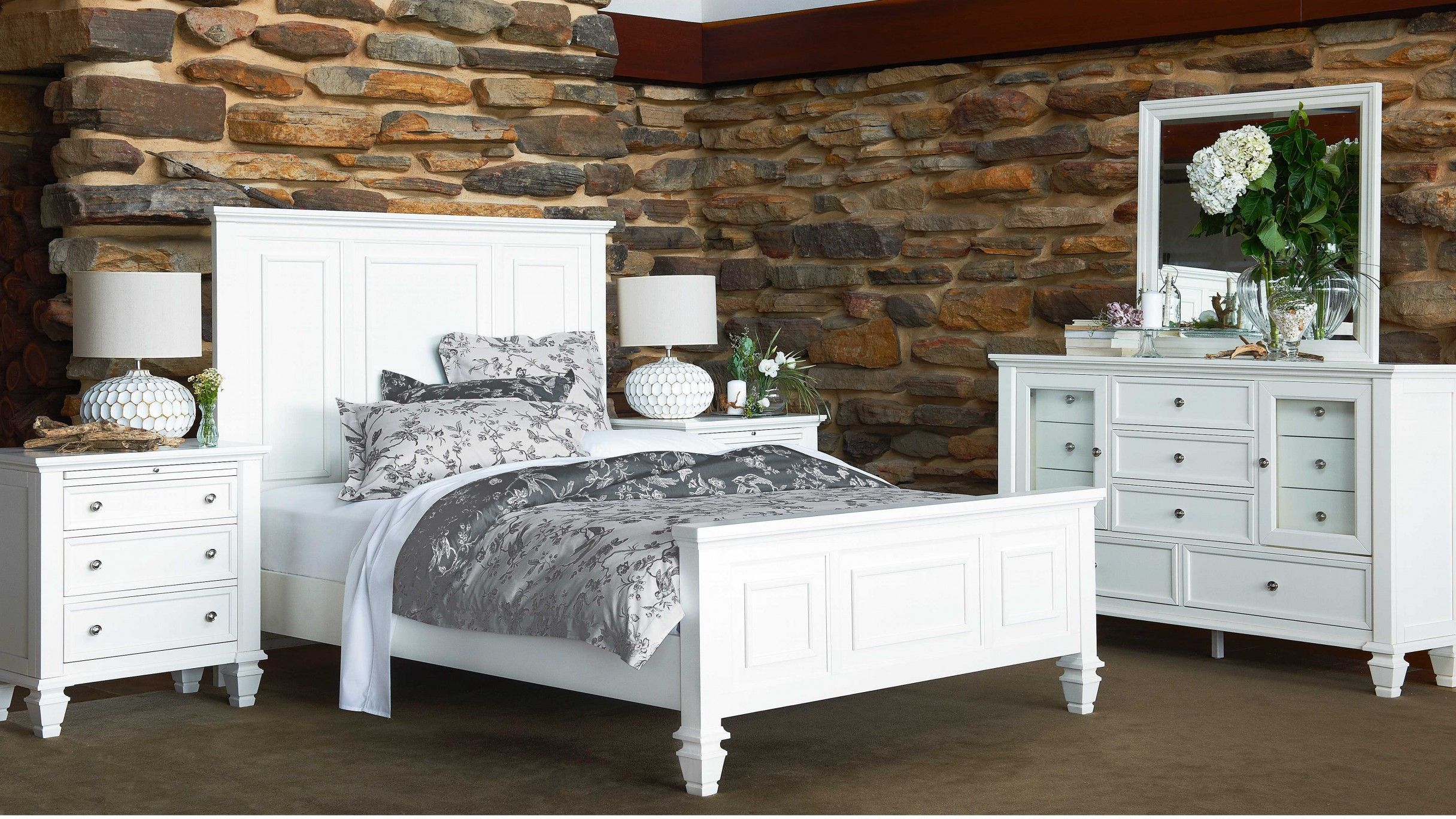 Glenmore 4 Piece Queen Bedroom Suite with Dresser Bedroom