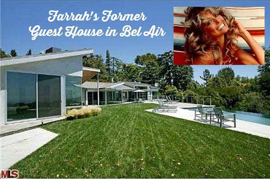 Former Celeb Guest House Of Farrah Fawcett Bel Air Los Angeles