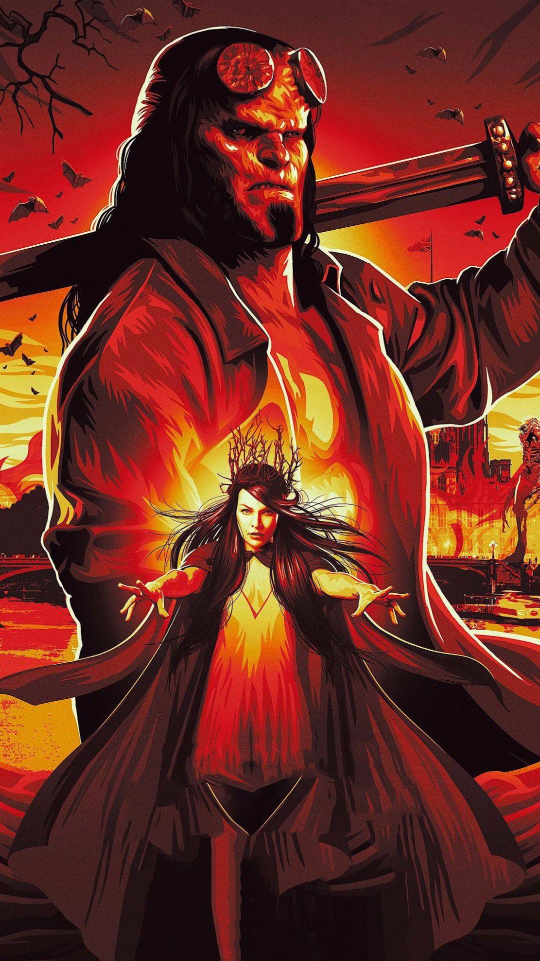 Hellboy, 2019 movie, poster, 1080x1920 wallpaper Movie