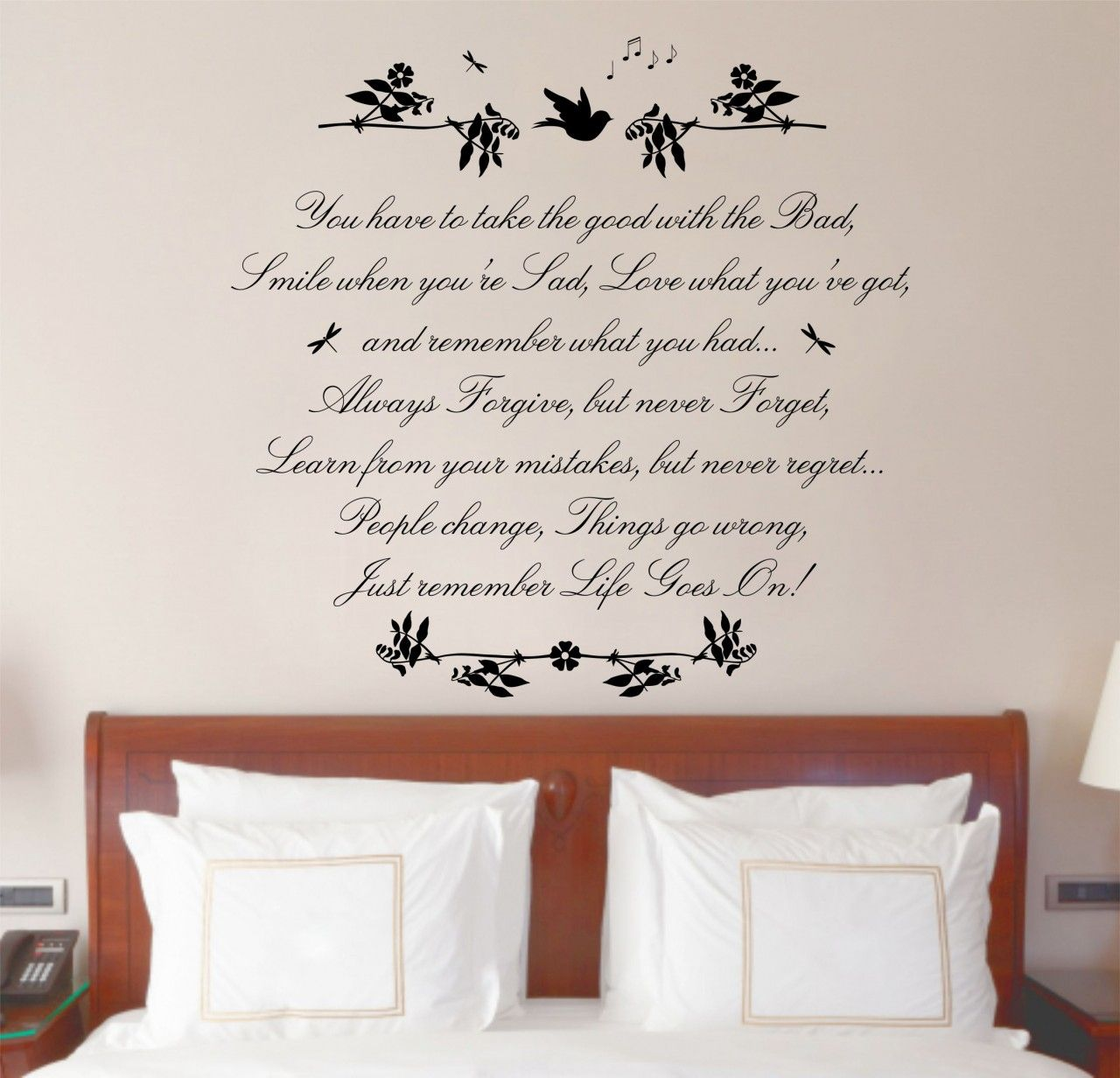 Love Quotes Wall Decals Wall Decals .life Goes On Quote Wall Art Sticker Decal Mural