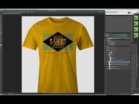 Download Mockup A T Shirt Design In Photoshop So It Looks Real Youtube Tshirt Designs Shirt Designs T Shirt