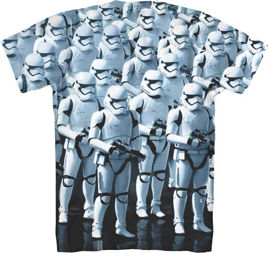 Star Wars The Force Awakens First Order Stormtroopers T-Shirt (back)